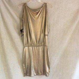 Victoria Secret cold shoulder metallic dress